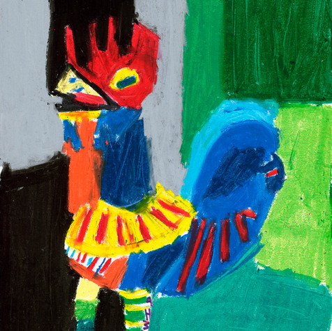 Green Rooster - SOLD Available in Print