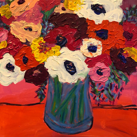 """""""Flowers in the Kitchen""""SOLD"""