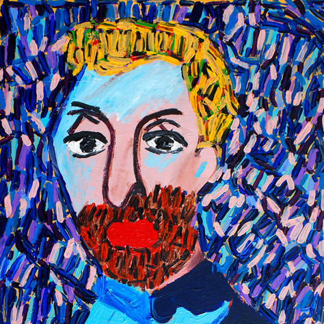 """""""Golden Hair Man"""" - SOLD - Available in Print"""