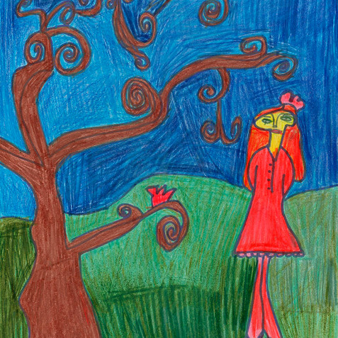"""Girl with Tree"" - Available in Print"