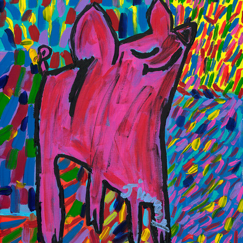 Dirty Happy Pig - SOLD Available in Print