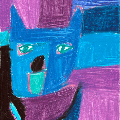 Purple Dog -SOLD  Available in Print