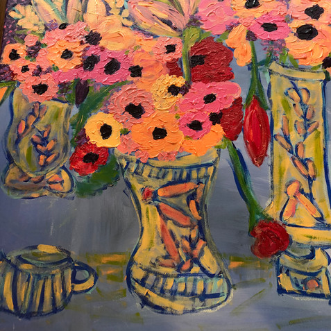 """Flowers in Vases"" SOLD"