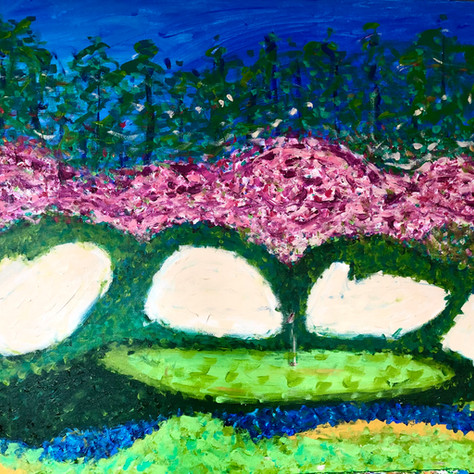 """""""Untitled Golf Painting"""" SOLD!"""