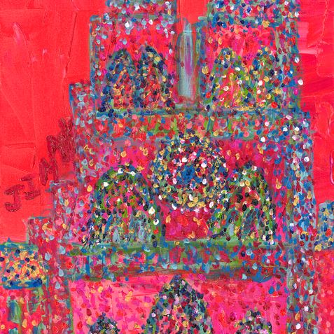 """""""Notre Dame Cathedral"""" SOLD  Available in Print- Available in Print"""