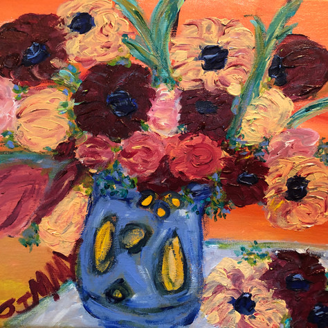 """""""Untitled Floral on Table"""" SOLD"""