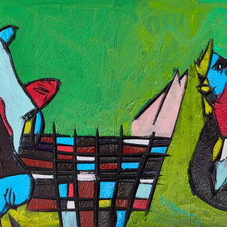 """Cow and Chicken"" Original Available"