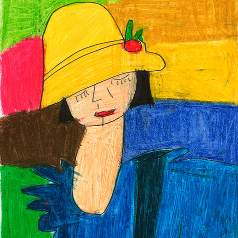 """Girl in Yellow Hat"" - Original Available"