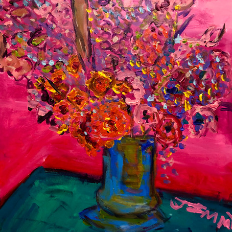 """""""Flowers in Pink"""" SOLD"""