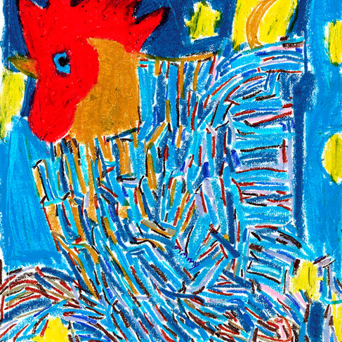 Blue Rooster - SOLD Available in Print