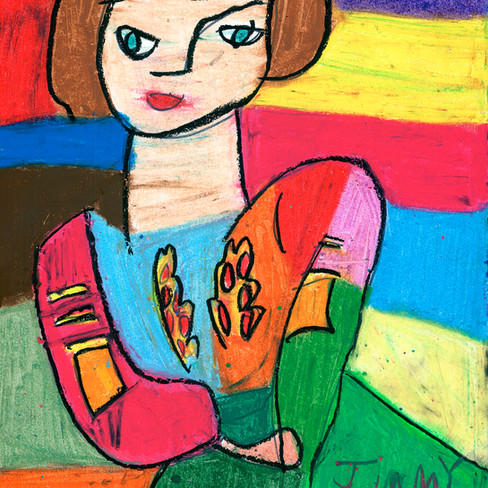 """""""Unititled Girl"""" - SOLD Available in Print"""