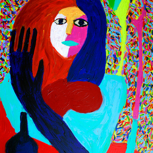 """""""Girl with Cork"""" - SOLD Available in Print"""