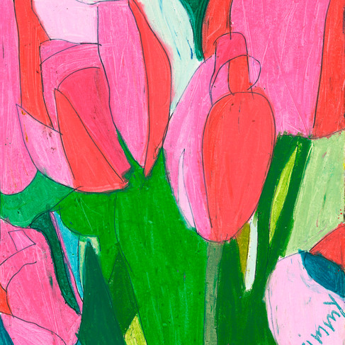 Pink Tulips - SOLD Available in Print