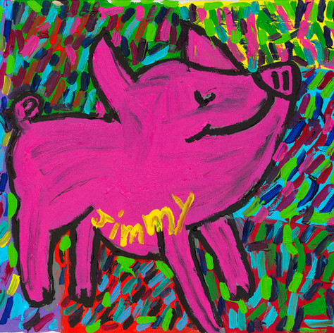 Jennifer the Pig - SOLD Available in Print