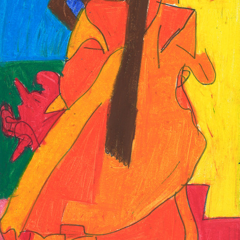 """Girl in Orange Dress"" Original Available"