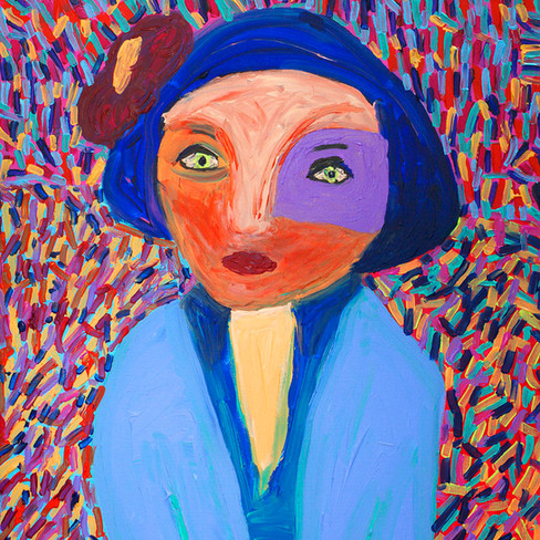 """""""Girl with Hat"""" - SOLD Available in Print"""