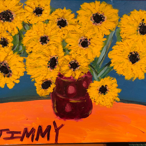 """""""Sunflowers in Vase"""" SOLD!"""