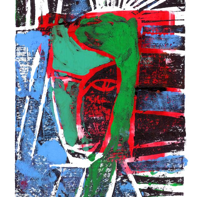 Sad Girl Mono Print 3/3