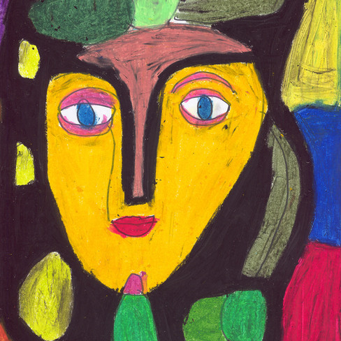 """Yellow Face Girl"" - Original Available"