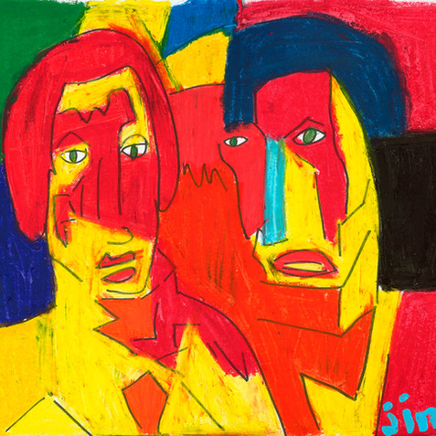 """Two Guys"" - SOLD"