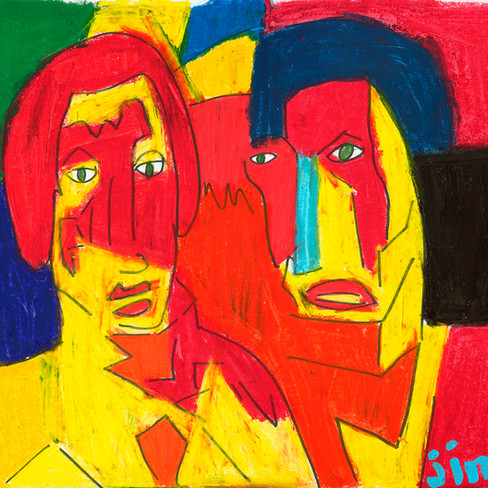 """""""Two Guys"""" - SOLD"""