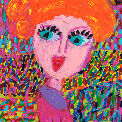 """Girl in Orange Hat"" - SOLD Available in Print"