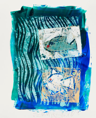 Ice Fishing #4 Mono Print SOLD Available in Print