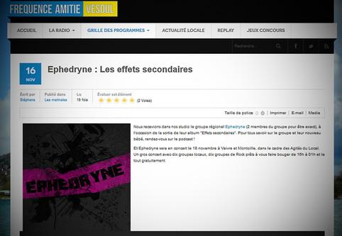 Ephedryne sur Fréquence Amitié Vesoul