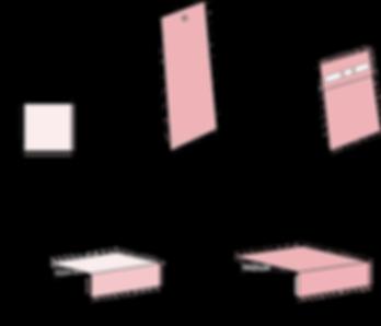 Studio Kiki kartonnn doosjes fomaten kubusdoosje lang doosje stokdosje schuifdoosje geboortedoosjes verpakkigen
