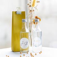 Glazen flesje met schroefdop