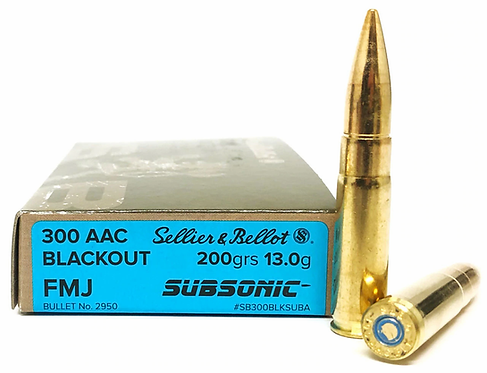.300 AAC BLACKOUT SUBSONIC FMJ - 200 GRS