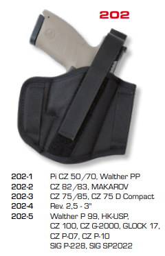 Ambidextrous Belt Holsters Two Loops 202
