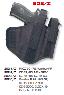 Ambidextrous Belt Holsters Two Loops With Integrated Magazine Pouch 202/Z