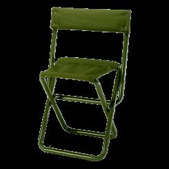 Ansitzstuhl aus Aluminium mit grüner Segeltuchbespannung