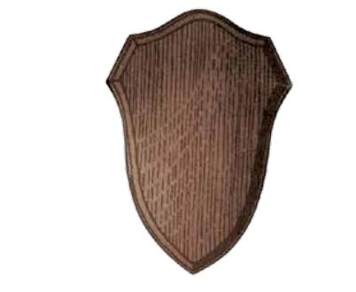 Wappenschilder für Rehtrophäen aus Eichenholz