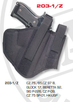 Ambidextrous Belt Holsters Two Loops With Integrated Magazine Pouch 203-1/Z