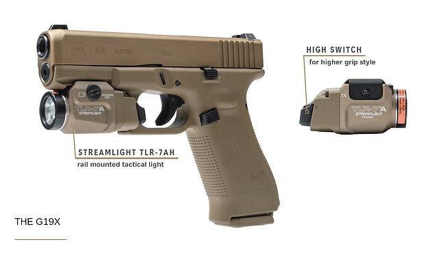 Glock 19X Coyote/Combo Streamlight
