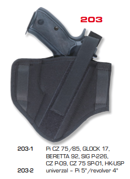Ambidextrous Belt Holsters Two Loops 203
