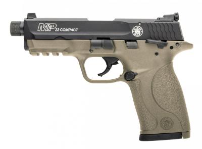 """S&W Pistole M&P22Compact TB FDE,Kal..22lr 3.6"""""""