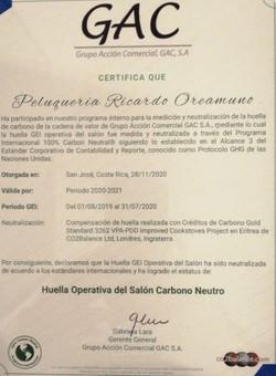 Certificacion 100% Carbono Neutral