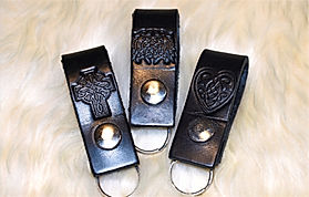Leather Scottish Keyrings