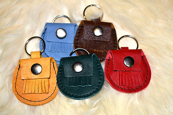 Scottish Leather Handmade Keyrings