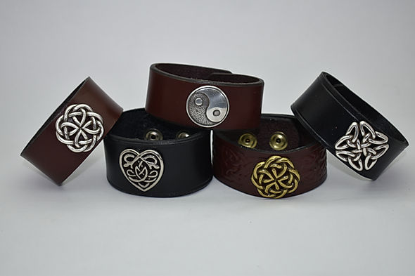 Handmade Scottish Leather Bracelets