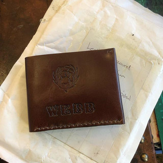 Bespoke Italian leather wallet!! #handma