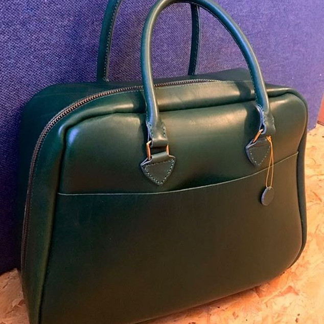 Italian Leather Travel Bag.