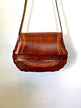 Tan thonged Handbag