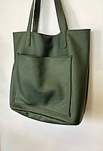 Green Leather Shopper Bag