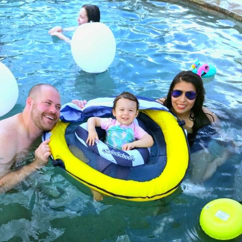 Family Fun in the Rocking M Ranch Pool!