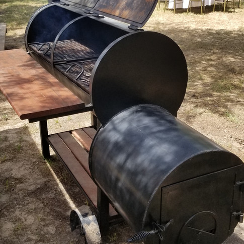 Custom Smoker/Barbecue Pit Available to All Events