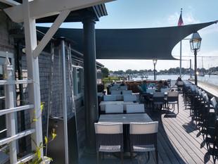 Shade Sails Over a Restaurant